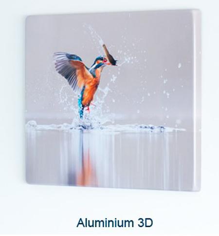 Foto's afdrukken op aluminium door sublimatie